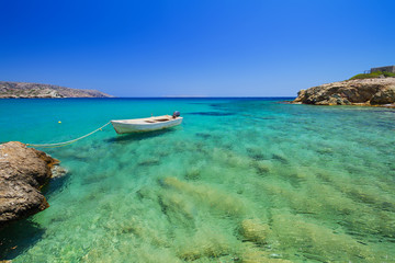 Blue lagoon of Vai beach on Crete, Greece