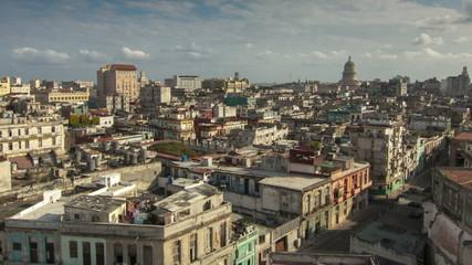 Cuba Havana time lapse panorama