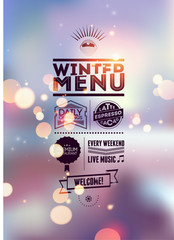 Menu poster. Vector background.