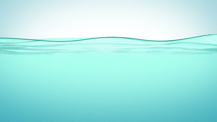 Beautiful Water surface in Slow motion. Looped animation.