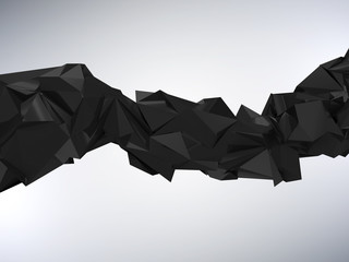 Abstract Rumpled Triangular Wave Geometry