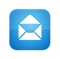 Open envelope -  blue web button