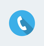 Call - flat design with long shadow