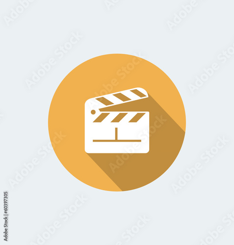 Clapboard  - flat design with long shadow