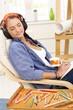 Artist girl enjoying relaxation