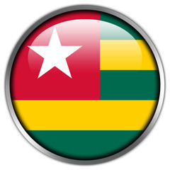 Togo Flag glossy button