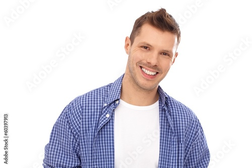 Portrait of happy young man