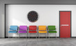 Colorful waiting room