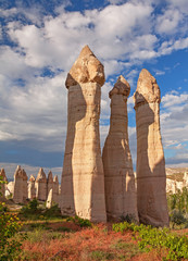 Symbol of potency. Scenic rocks in Cappadocia, Turkey.