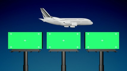 Airplane Billboard Travel