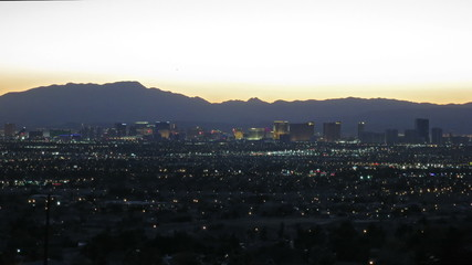 Las Vegas skyline sunset