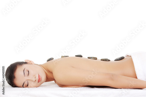 Beauty woman relaxing in spa.