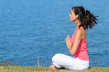 Yoga relax and breathing exercise