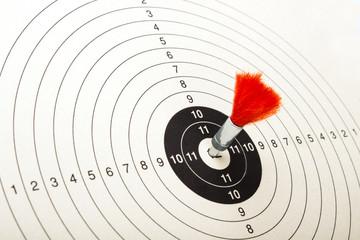 Roter Pfeil auf Zielscheibe