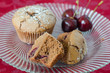 Chocolate and cherry muffins