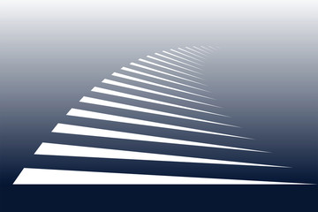 Symbolic stripes of zebra crossing.