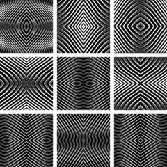 Patterns set in op art design.
