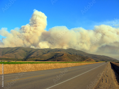 Massive Plumes of Brush Fire Smoke, Ventura, CA