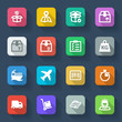 Shipping flat icons. Colorful