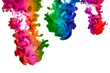 Rainbow of Acrylic Ink in Water. Color Explosion - 60401949