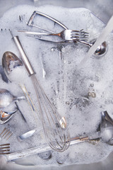 Wash the cutlery after the meal