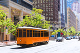 San Francisco Cable car Tram in Market Street California