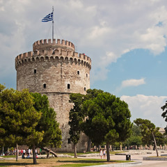 White tower in Thessaloniki. Most recognizable landmark in town
