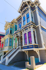 San Francisco Victorian houses in Pacific Heights California