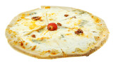 italian pizza quatro formaggi (four cheese)