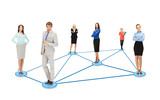 social or business network