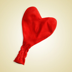deflated heart-shaped balloon