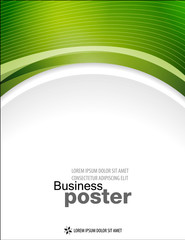 Presentation of business poster. Flyer design content background