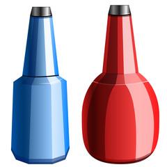 bottles, vector illustration