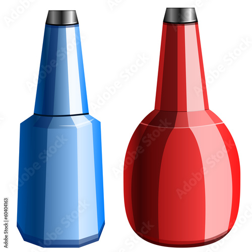 bottles, vector illustration