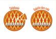 2 galettes des rois orangées - Epiphanie
