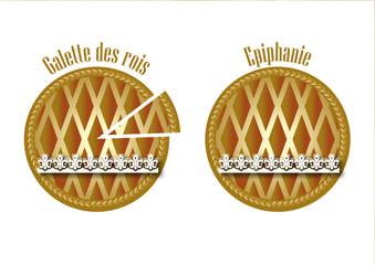 2 galettes des rois dorées - Epiphanie