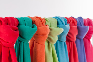 Colored scarves/Different colored scarves
