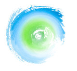 Blue Green Painted Swirl Eco Concept Symbol