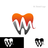 M. Dental Logo