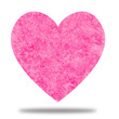 Pink Heart with Watercolor Texture