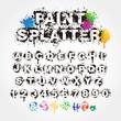 Paint splatter alphabet - 60406371