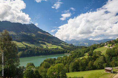 Paesaggio collinare a Gruyere, Svizzera