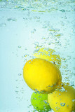 citron  water splash fresh drop
