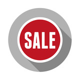 Sale sticker flat design