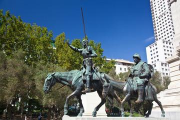 Cervantes Monument in Madrid, Spain