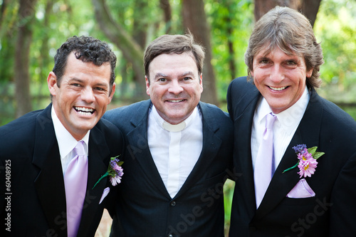 Minister Posing With Gay Wedding Couple
