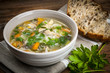 Chicken soup with rice and vegetables - 60409114