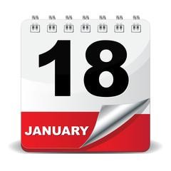 18 JANUARY ICON
