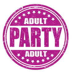 Adult party stamp