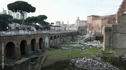 Imperial Vespasiani Forum in Rome